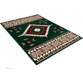 """Allstar Green Woven High Quality Rug. Traditional. Persian. Flower. Western. Design Area Rugs (3' 9"""" x 5' 1"""")"""