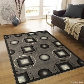 "AllStar Rugs Grey Abstract Modern Area Carpet Rug (7' 10"" x 10' 2"")"