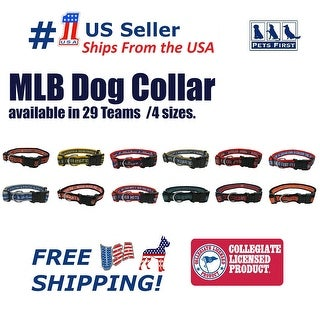 Pets First MLB Dog Collar - Heavy-Duty, Durable & Adjustable Collar