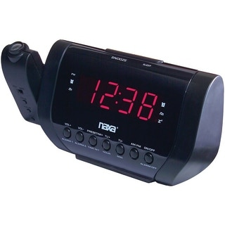 Naxa NAXNRC173B Projection Dual Alarm Clock