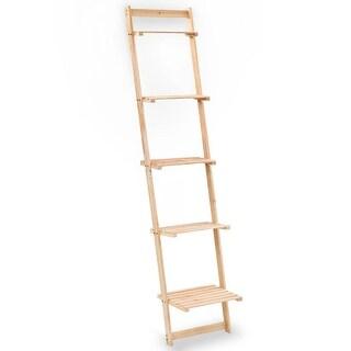 "vidaXL Ladder Wall Shelf Cedar Wood 16.3""x11.8""x69.3"""