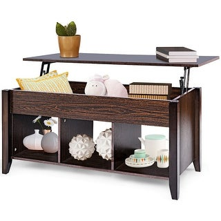 Costway Lift Top Coffee Table w/ Hidden Compartment Storage Shelf