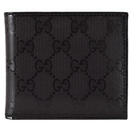 New Gucci Men's 224123 Black Imprime GG Guccissima Bifold Wallet
