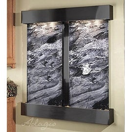 Adagio Cottonwood Falls Fountain w/ Black Spider Marble in Rustic Copper Finish