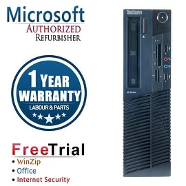 Refurbished Lenovo ThinkCentre M78 SFF AMD A4-5300B 3.4G 4G DDR3 250G DVD Win 10 Pro 1 Year Warranty