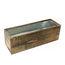 CYS® Wood Rectangle Window Box Wood Planters with Removable Zinc Liner (Pack of 1)