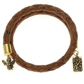 Saddle Brown Braided Cork Wrap Bracelet - Exclusive Beadaholique Jewelry Kit