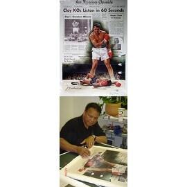 ''Clay KOs Liston in 60 Seconds'' by Doug London Celebrities Art Print (39.5 x 28.25 in.)