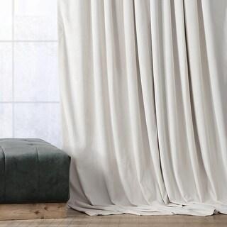 Exclusive Fabrics Signature Ivory Velvet Blackout Single Curtain Panel