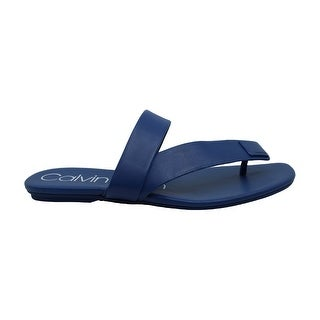 Calvin Klein Womens Saurin Open Toe Casual Slide Sandals