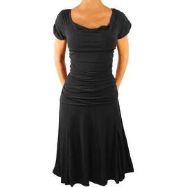 Funfash Plus Size Dress Gothic Black Women Cocktail Cruise Dress