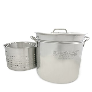 Bayou Classic 36-quart Stainless Stock Pot and Steamer Basket
