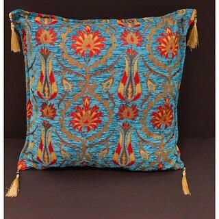 Suzani Tulip Chenille Turkish Decorative Pillow
