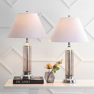 "Astor 29"" Glass LED Table Lamp, Smoked Gray (Set of 2) by JONATHAN Y"