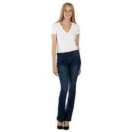 Lola Pull On Bootcut Jeans, Leah-MSB