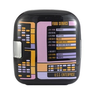 Star Trek The Next Generation Replicator TNG 7L Liter Thermoelectric Cooler Mini Fridge