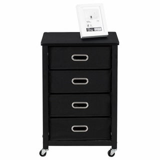 Gymax Rolling File Cabinet Heavy Duty Mobile Storage Filing Cabinet w/