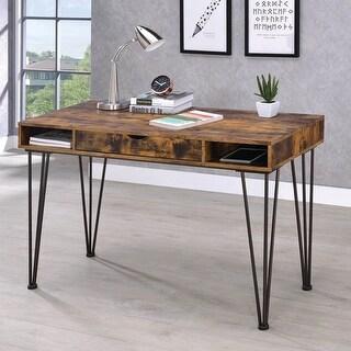 Carbon Loft Kupaka Industrial Antique Nutmeg and Dark Bronze Writing Desk