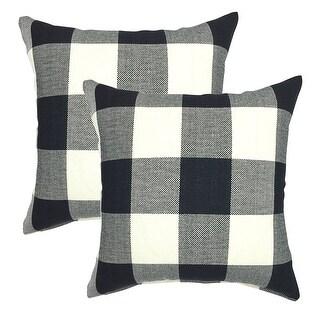 Buffalo Check 18 Inch Decorative Throw Pillow Cover (set of 2)