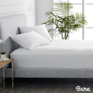 Bare Home 100% Waterproof Cotton Mattress Protector Hypoallergenic & Vinyl Free