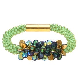 Deluxe Beaded Kumihimo Bracelet (Green) - Exclusive Beadaholique Jewelry Kit