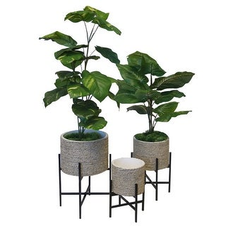 "Plant Stand Indoor Adjustable Metal Plant, Set of 3 - 8'6"" x 13'"