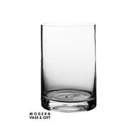 """CYS® Glass Cylinder Vase. H-6"""", Open D-4"""""""