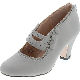 Womens 36-Mina4 Closed Toe Mary Jane High Heel Shoes