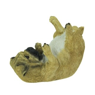 Parched Pug Dog Tabletop Wine Bottle Holder - 6.5 X 8 X 4 inches