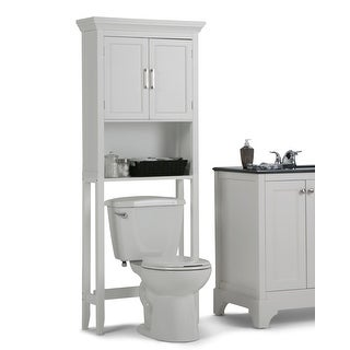 WYNDENHALL Hayes 67 inch H x 27 inch W Space Saver Bath Cabinet - 67 inch high