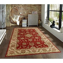 2.4x4 4x6 5x7 Red Beige Green Orange Brown Traditional Persian Floral Faux Silk Rug Carpet