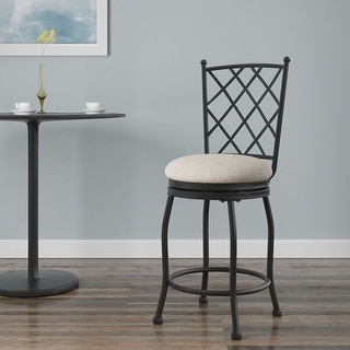 """HomePop 24"""" Tristan Swivel Counter Stool - 24 inches"""