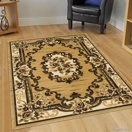 "Allstar Brown / Beige Woven Hand Classic Persian Design Area Rug (3' 9"" x 5' 1"")"