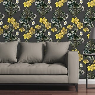 Circle Art Group Removable Wallpaper Tile - Marigolds and Daisies