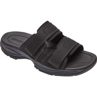 Dunham Men's Newport Water Friendly Active Slide Black Ballistic Nylon