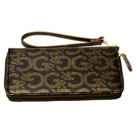 Wristlet Clutch Wallet Wrist Strap Fits Cards Cell Phone, Dark Brown