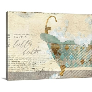 """Take a Bubble Bath"" Canvas Wall Art"