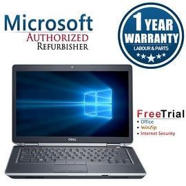 "Refurbished Dell Latitude E6430 14.0"" Laptop Intel Core i5 3320M 2.6G 4G DDR3 320G DVD Win 10 Pro 1 Year Warranty"