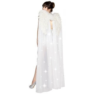 White Angel Wings Adult Costume Accessory