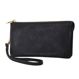 "Humble Chic Small Wristlet - Vegan Leather Wallet Clutch Bag Phone Purse Handbag - 4"" x 7"" x 1"""