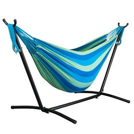 Driftsun Space Saving Two Person Patio and Lawn Portable Hammock with Steel Stand