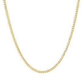 10 KARAT YELLOW GOLD CURB LINK HOLLOW CHAIN NECKLACE 2.5MM
