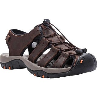 Propet Men's Kona Fisherman Sandal Brown Nubuck