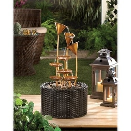 Metallic Lily Outdoor Water Fountain