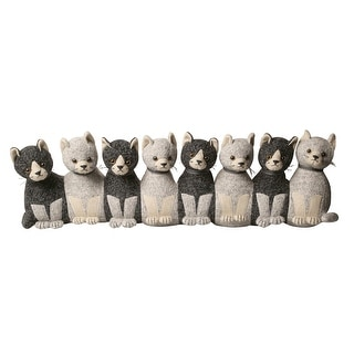 """Litter of Kittens Draft Dodger - Weighted Door and Window Breeze Guard Draft Stopper - 32"""" Long - Gray - 8 in. x 32 in."""
