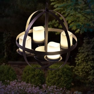 Sunjoy Round LED Orb Chandelier