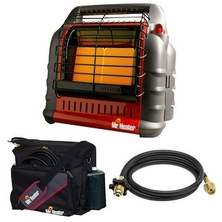 Mr. Heater Propane Big Buddy Portable Heater w/ 10' Propane Hose & Bag