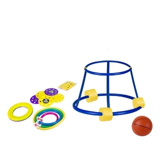 """18"""" Vibrantly Colored 4-In-1 Fun Pack Swimming Pool Game Set"""