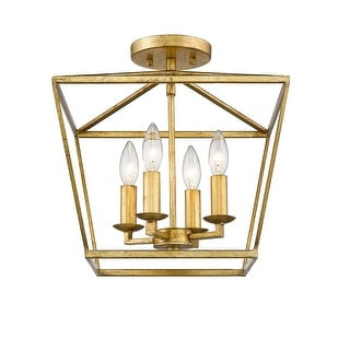 Mini Lantern Ceiling Light and Pendant in Gold