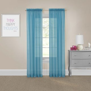 Pairs to Go Victoria Voile Curtain Panel Pair - 118x63